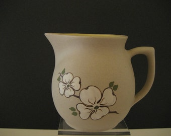 Vintage Pigeon Forge milk pitcher with hand painted dogwood flowers
