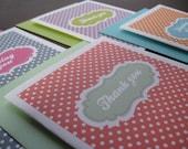 4 pk polka dot assorted folded cards