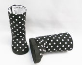 """American Girl 18"""" doll boots  black and white polka dots by MegOrGirls"""