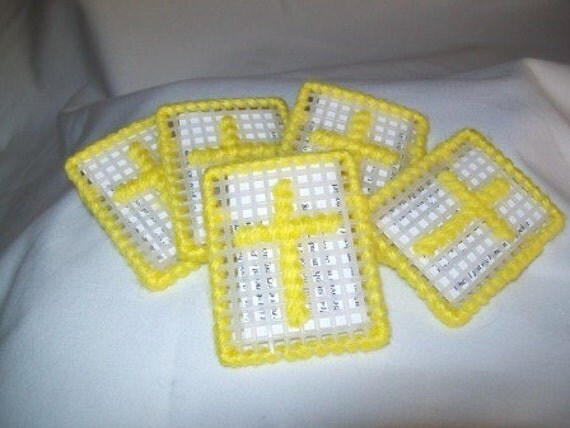 Cross in my Pocket, Set of 5 in Soft Yellow