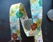 D Ring Belt, beautiful spring floral, M/L