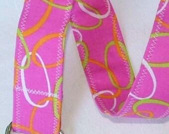 D Ring Belt, Fun Pink Rings, size S/M
