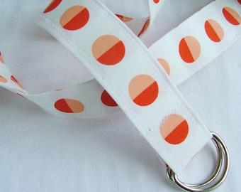 D Ring Belt, orange dot, size S/M
