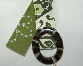 Womens Belts, Reversible Belt, embroidered sage and modern grey pattern , size M/L