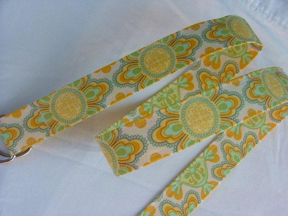 D Ring Belt, soft yellows,  S/M