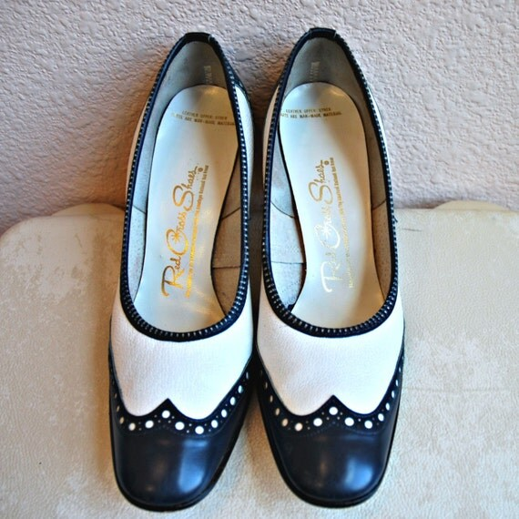 vintage red cross shoes