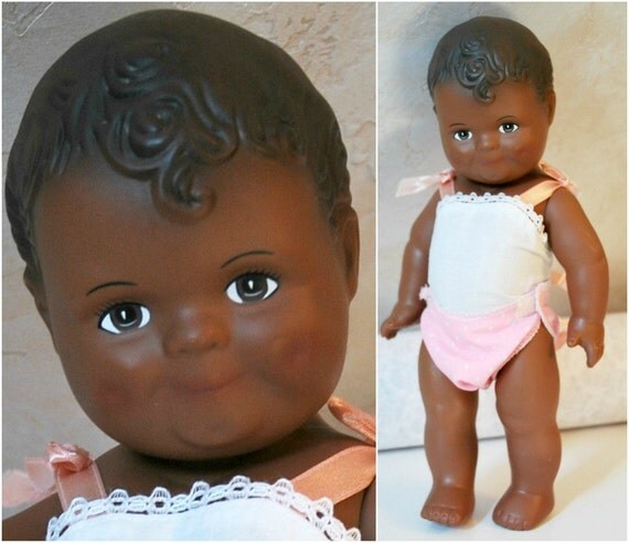 Daisy Kingdom African American Baby Doll - 12 inches tall