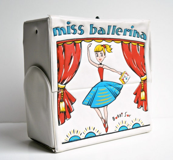 1960's Bobbi Sox Ballet Case - Miss Ballerina - carry tote for dance shoes