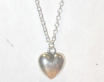Silver Heart Necklace - 1241