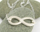 Infinity Necklace Fine Silver Handmade PMC Artisan Pendant