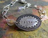 Journey Bracelet Personalized Silver Name Bracelet Inspirational Bracelet Birthstone Bracelet PMC Eco Friendly Jewelry