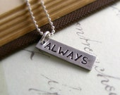Always Silver Necklace Personalized Gift For Bride For Groom Unisex Engagement Necklaces Inspirational Jewelry