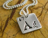 Periodic Table Necklace Silver Science Geekery Necklace Personalized Teacher Appreciation Gift Period Table Elements Ag Fine Silver PMC
