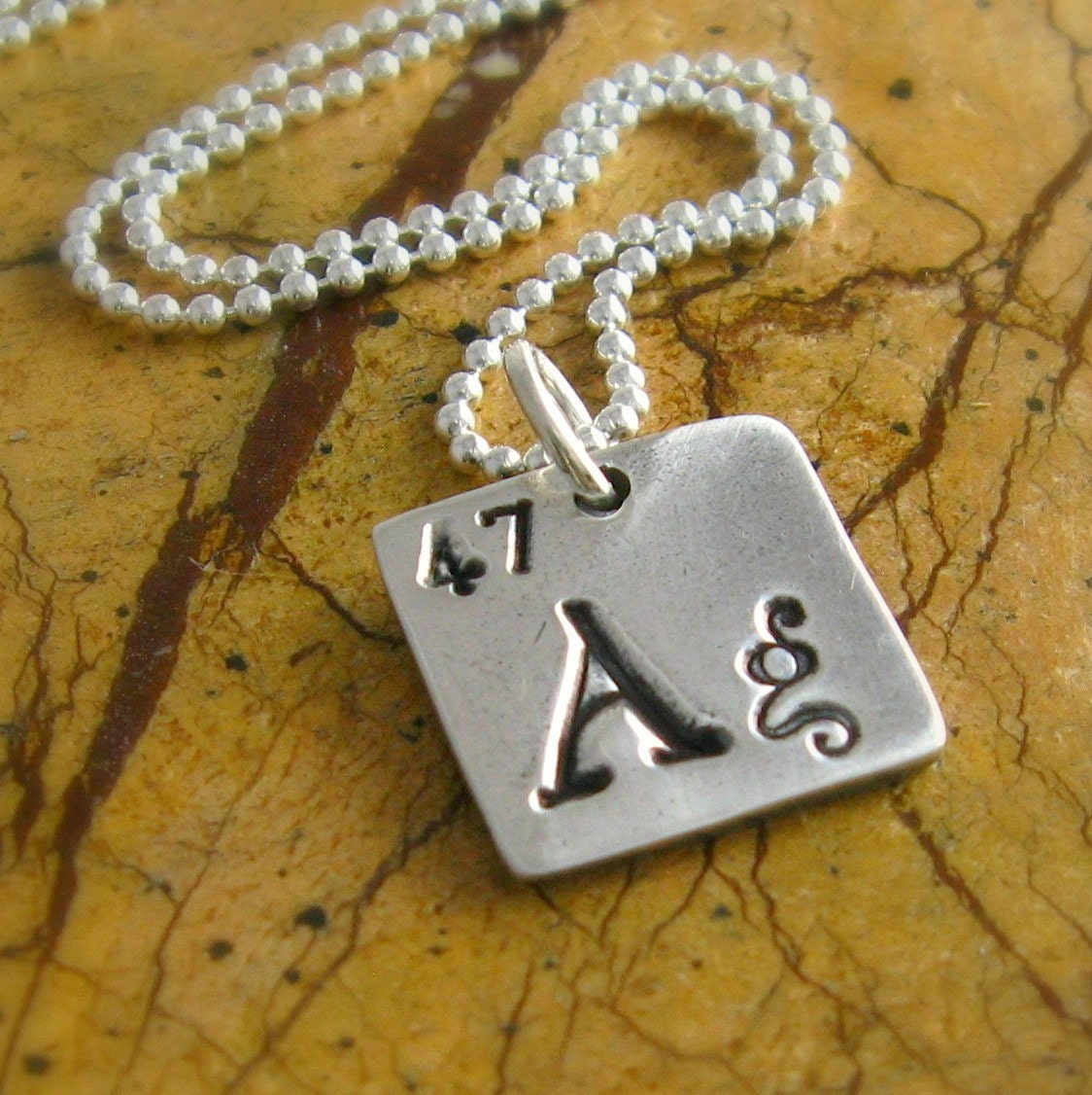 Periodic Table Necklace Silver Science Geekery by ...
