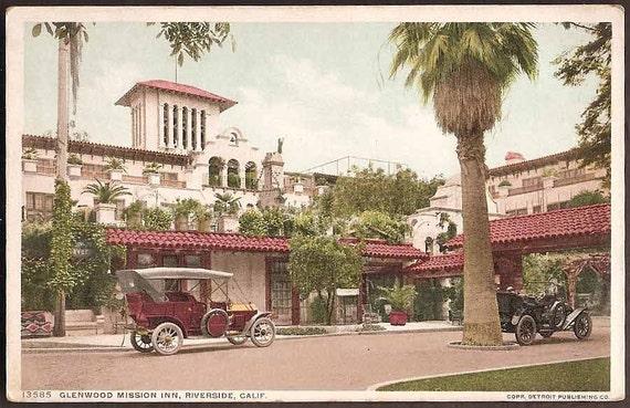 Riverside, California Vintage Postcard - Glenwood Mission Inn