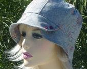 Stylish Summer Cloche in Lovely Gray by Mojo Indigo