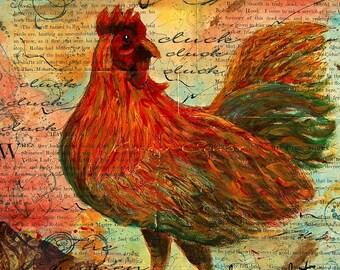 Chicken Farm Ephemera Word Art Digital Download by artist Tamyra Crossley. No shipping.