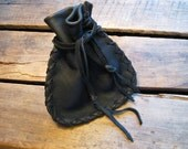 Let It Rock - Small Drawstring Leather Pouch Coin/Jewelry/Tobacco