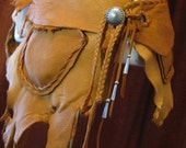 Custom Order/More Colors - Leather Deerskin Utility Festival Wrap Belt