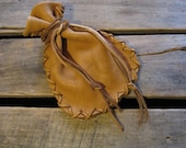 Revolution -Small Drawstring Leather Pouch Coin/Jewelry/Tobacco