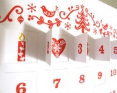 Advent Calendar DIY Template with Illustrations