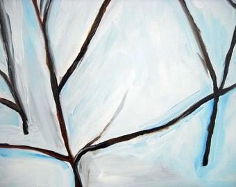 Winterscape original oil painting