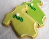 ONESIE SUGAR COOKIES, Baby Onesie Sugar Cookies, 1 Dozen