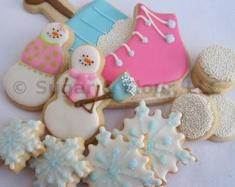 SNOWY DAY Christmas Sugar Cookie Gift Set, 12 Cookies