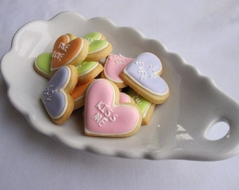 VALENTINE HEART Sugar Cookies, Itty Bitty and Conversation Heart COMBO