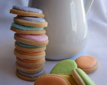 Mini EASTER Egg SUGAR COOKIES Itty Bitty Sugar Cookies, 1/2 Pound
