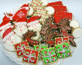FROM SANTA With LOVE Christmas Sugar Cookie Gift Set, 30 cookies