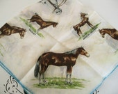 Reserved For PeggysVintage, Vintage Scarf For All Of You Cowgirls or For Those of You Who Just Love Horses