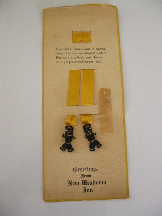 Vintage/Antique New Meadows Inn Bookmark On Original Card