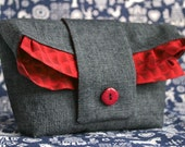 CULT OF DOMESTICITY --  Foldover Pouch -- Holds whatever you own in style