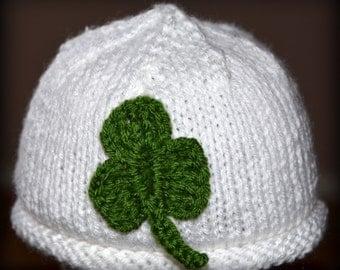 St Patrick's Day Hat, St Patrick's Day Beanie, St Patrick's Day Cap, Baby Shamrock Hat, Baby Shamrock Beanie, Baby Shamrock Cap