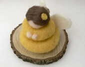 Buttercup Flower Fairy - Needle Felted - Waldorf Inspired.