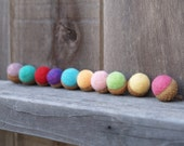 Personalize your Acorns 10 Felted Acorns in Any Color Combination - Needle Felted Wool Acorn Eggs Sugar Free Spring Christmas Gift