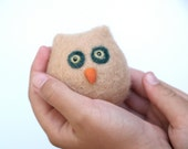 Wool Toy, Owl Waldorf Toy felt toy white cute adorable animal children child kid pretend play soft plush boy girl birthday farm woodland