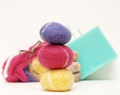 Needlecraft Kit, Needle Felted Pebbles Wool Felting Rock Stone DIY Tutorial learn how to New Hobby Crafting Craft Make your own Rainbow kids
