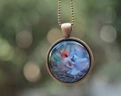 Girls Wearable Art Necklace, magical Flower Fairy jewelry for children and adults - woodland inspired pendant