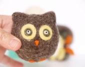 Needle Felting Owl Kit, Detailed Tutorial on How to Make this Adorable Owl, Beginner Neelde Felted, Handmade Christmas Gift