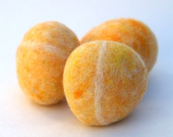 Mango Felted Stones - Set of 6.