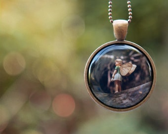 Girls Necklace, Wearable Art Pendant, magical Flower Fairy jewelry for children and adults - woodland inspired