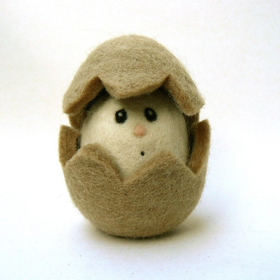 Egg - Wool Needle Felted Toy.