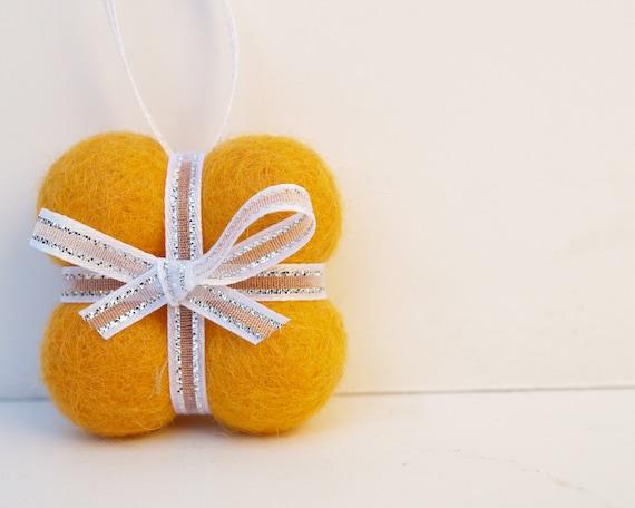 CUSTOM ORDER for Kathy - 1 yellow gift ornament.