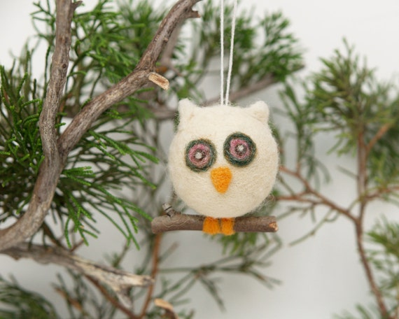 Items Similar To Holiday Ornament Owl Chistmas Winter
