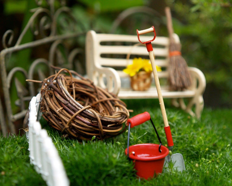 Fairy Garden Kit Miniature Furniture Dolls House Gardening