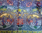 Vintage Silk Piano Shawl Bollywood Silk Square Tapestry Table Cover Throw Purple Don Quixote