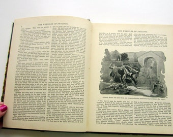 Antique Book The Wrestler of Philippi Christian Story Book Tale