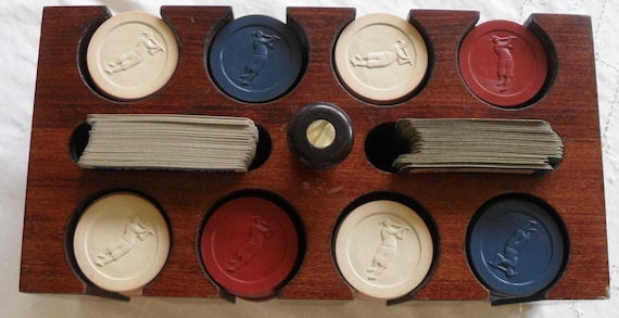 RESERVE for TankooVintage Clay Golf Gaming Poker Chips Set with Wood Holder Box